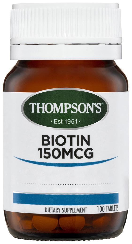 Thompson's Biotin 150mcg 100 tabs
