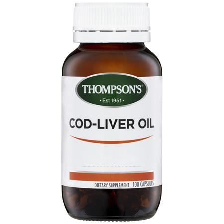 THOMPSONS Cod Liver Oil 100caps