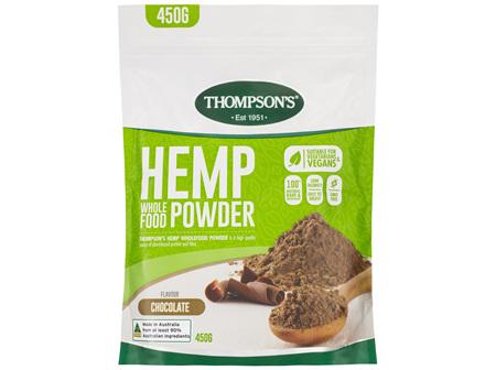 Thompson's Hemp Wholefood Powder Chocolate 450g