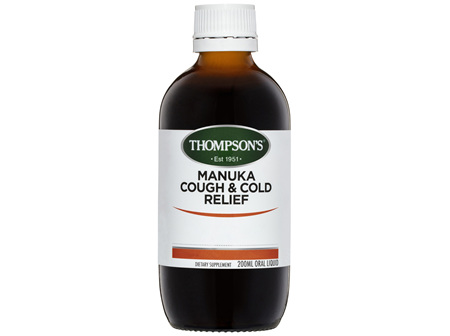 Thompson's Manuka Cough and Cold Relief 200ml