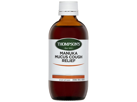 Thompson's Manuka Mucus Cough Relief 200ml