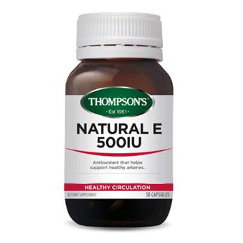 THOMPSONS Natural E 500iu 30caps