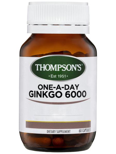 Thompson's One-a-day Ginkgo Biloba 6000mg 60 Caps