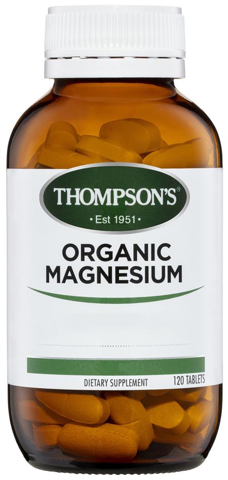 Thompson's Organic Magnesium 120 tabs
