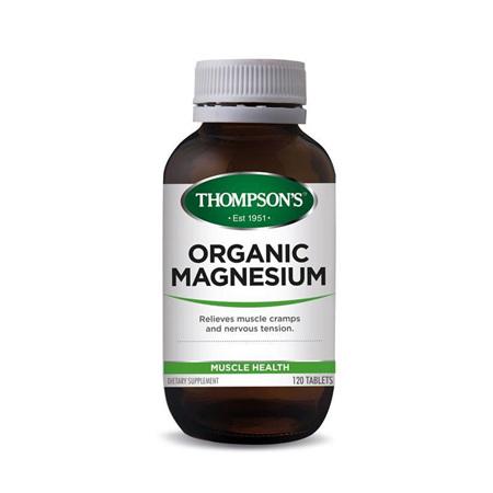 THOMPSONS Organic Magnesium 120tabs