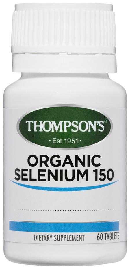 Thompson's Organic Selenium 150mcg 60 Tablets