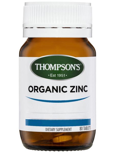 Thompson's Organic Zinc 80 tabs