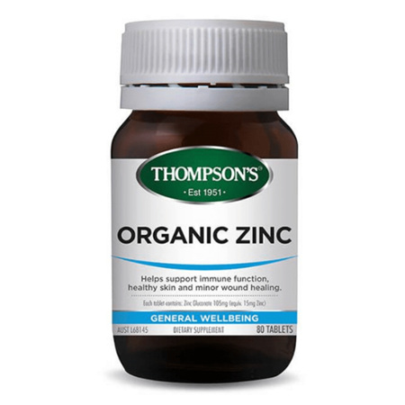 THOMPSONS Organic Zinc 80tabs