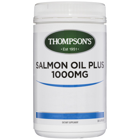 Thompson's Salmon Oil Plus 1000mg 300 Capsules