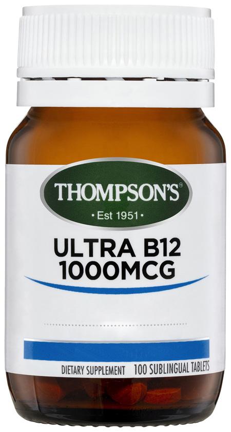 Thompson's Ultra B12 1000mcg 100 tabs