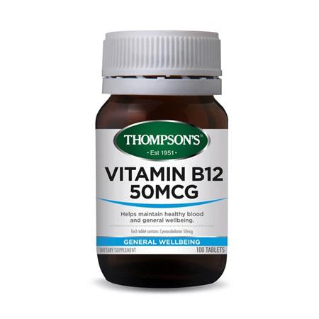 THOMPSONS Vitamin B 12 50mcg 100tabs