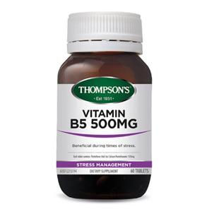 THOMPSONS Vitamin B5 500mg 30tabs
