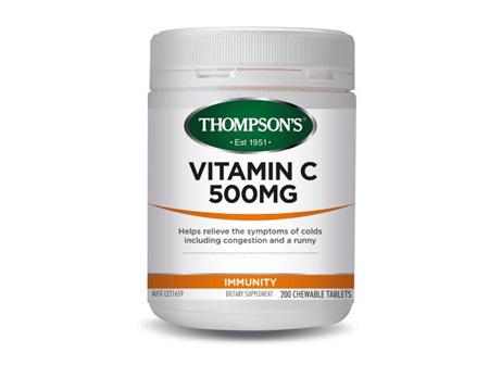 Thompson's Vitamin C 500mg tablets 200 Chewable