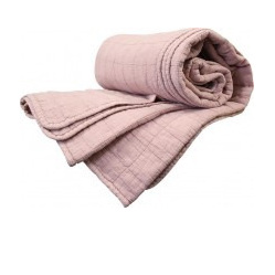 Throw Quilted Cotton Dusty Pink