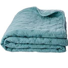 Throw Quilted Diamond Teal