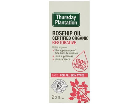 Thursday Plantation Rosehip Oil Certified Organic Restorative 25mL