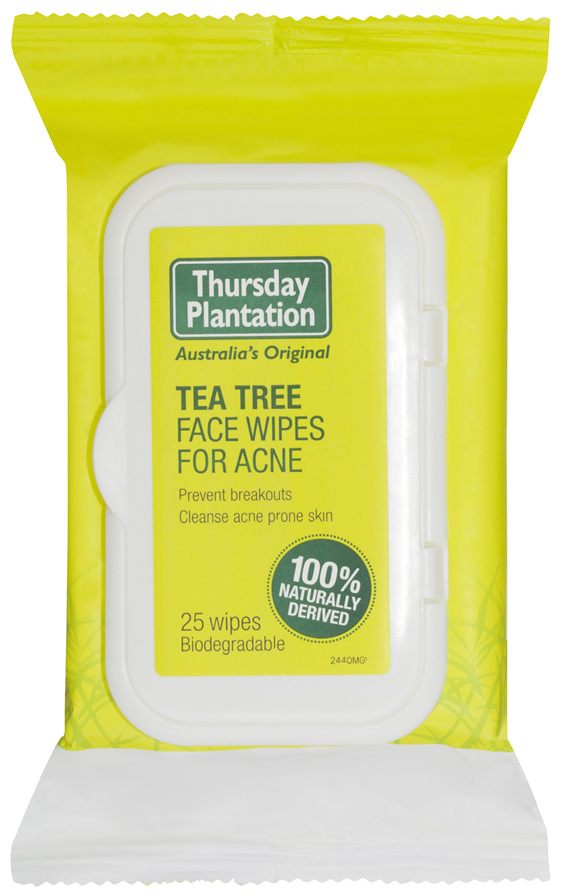 Thursday Plantation Tea Tree Face Wipes for Acne 25 Pack