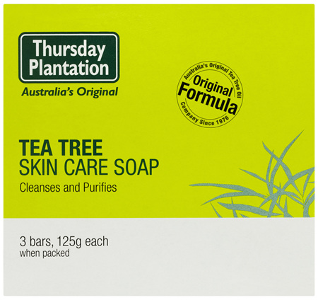Thursday Plantation Tea Tree Skin Care Soap Bars 3 x 125g