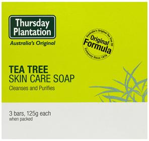 Thursday Plantation Tea Tree Skin Care Soap Bars 3 x 125g