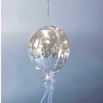 Tinted Balloon Hanging Clear Glass Light