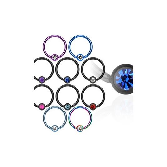 Titanium Anodized 16g Ring