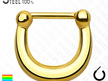 Titanium Plated Surgical Steel Septum Clicker