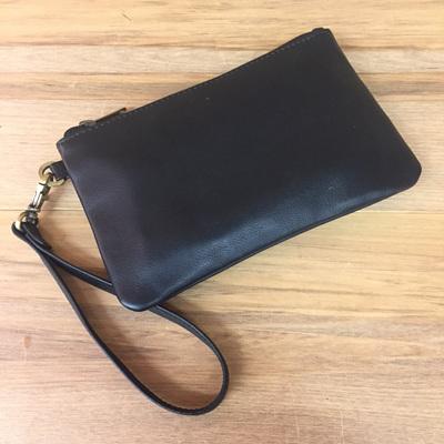 Toronto Clutch- Black Leather