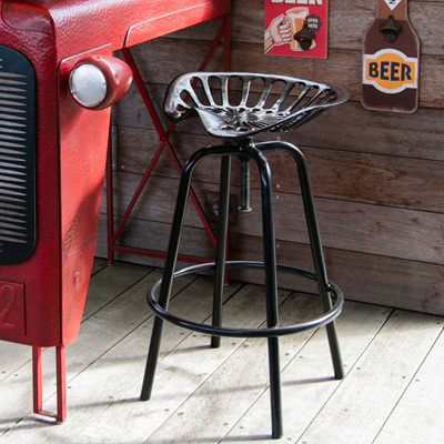 Tractor Seat Bar Stool - Black