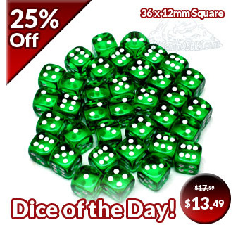 Translucent Dice of the Day