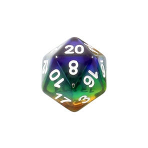 Translucent Rainbow Polyhedral Dice Games and Hobbies New Zealand NZ