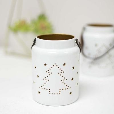 Tree Lantern White/Gold