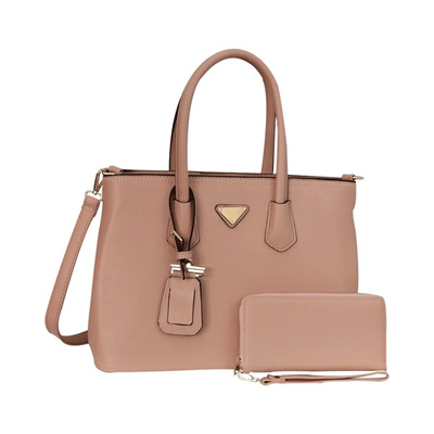 Trendy Tag Tote Bag - Peach