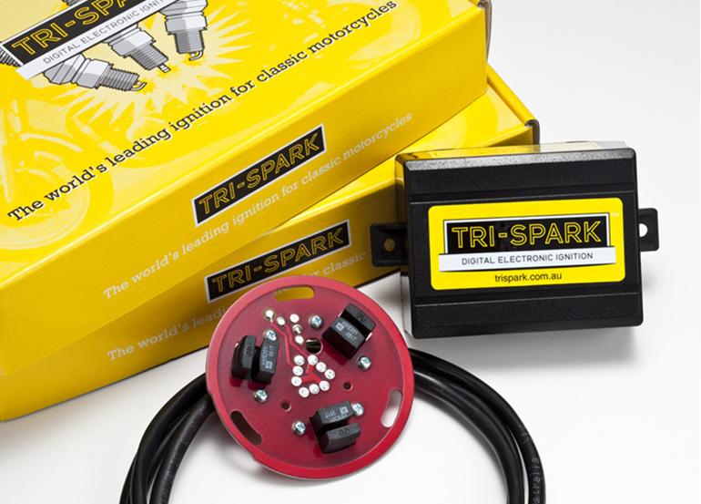 TRI-0001 Tri-Spark Digital Electronic Ignition - BSA Triumph Triples - Auckland