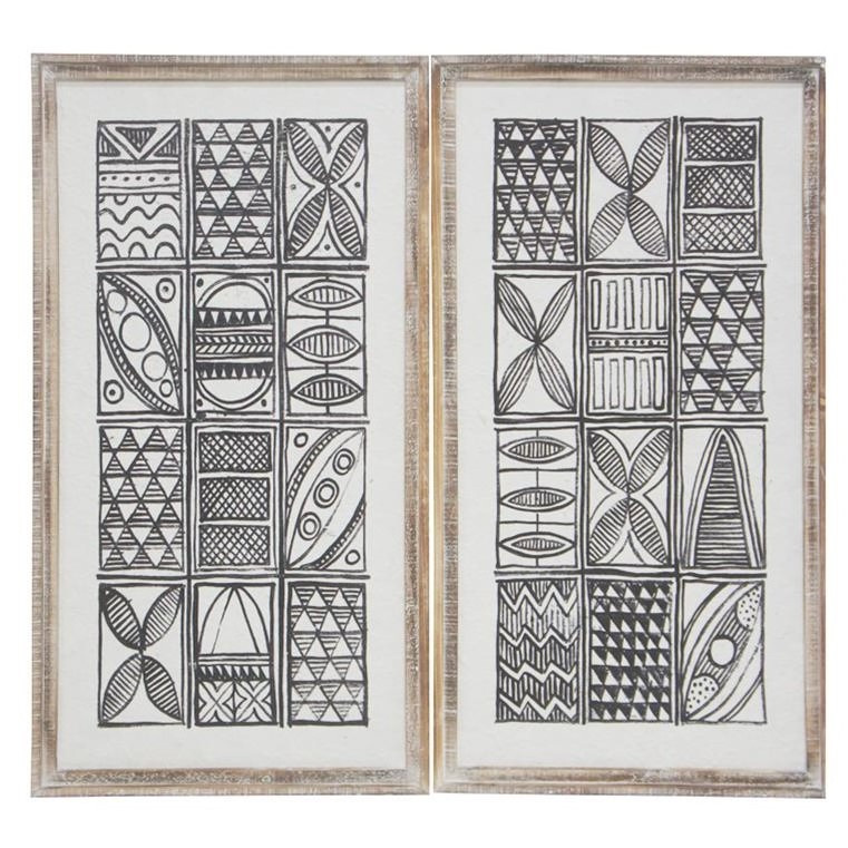 Tribal Art - Natural Frame - 82x42cm