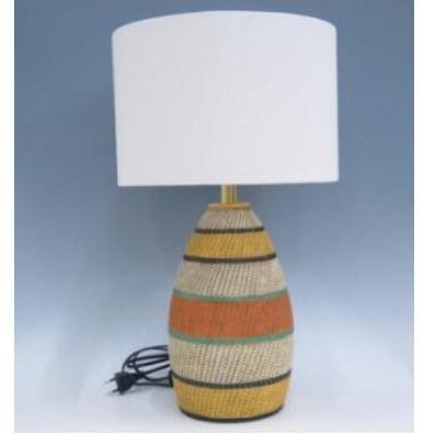 Tribal C Resin Lamp - Black Shade 51.5cmh