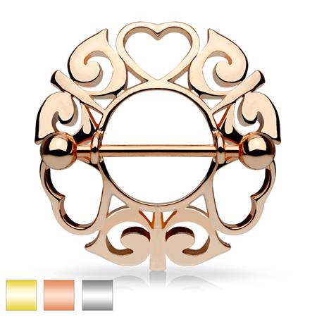 Tribal Hearts Hollow Nipple Shield