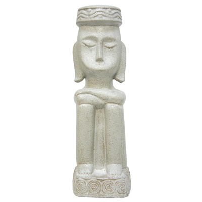 Tribal Man Ceramic Statue - Sand - 44cmh