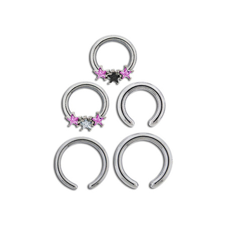 Triple Star Captive Ring Set