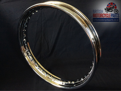 "37-4129 Triumph 19"" Rim Disc Front - Chrome"