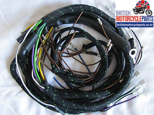 Triumph 3TA 5T 6T Cloth Braided Wiring Loom Harness 1954-59