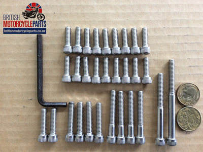 Triumph 500 650 Pre-Unit Allen Screw Set