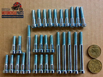 Triumph 5T 6T Screw Set 1956-62