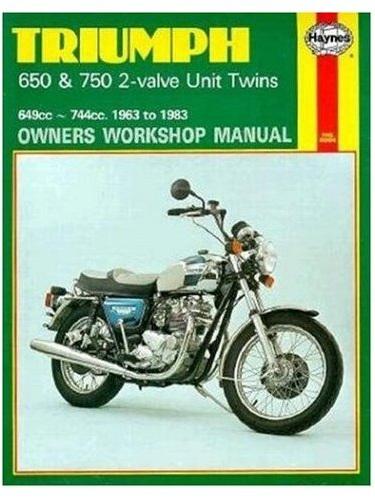 Triumph 650 & 750 Unit Twins Workshop Manual