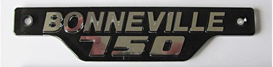 Triumph Bonneville 750 Side Cover Badge Chrome and Black 1979 on