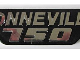 83-7316 Bonneville 750 Badge 1979 on Chrome Black