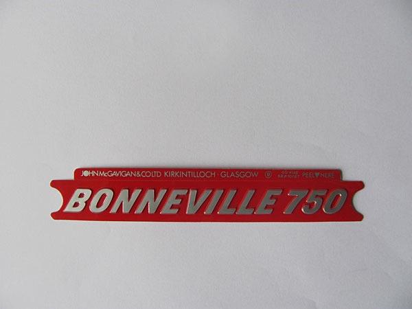 Triumph Bonneville 750 Side Cover Badge Decal Sticker