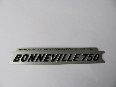60-7054 Bonneville 750 Side Cover Badge