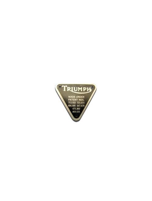 Triumph Patent Plate