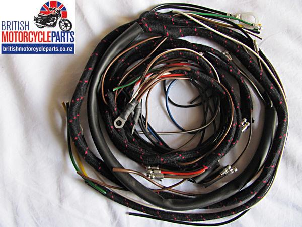Triumph T100 T110 T120 Wiring Loom Harness 1955-59 - British Motorcycle Parts NZ