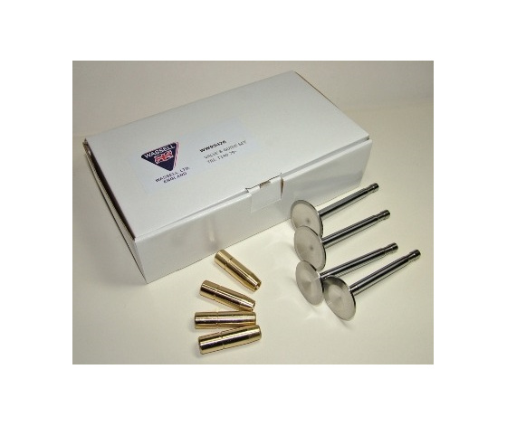 Triumph T120 TR6 Inlet Exhaust Valves and Guides Set